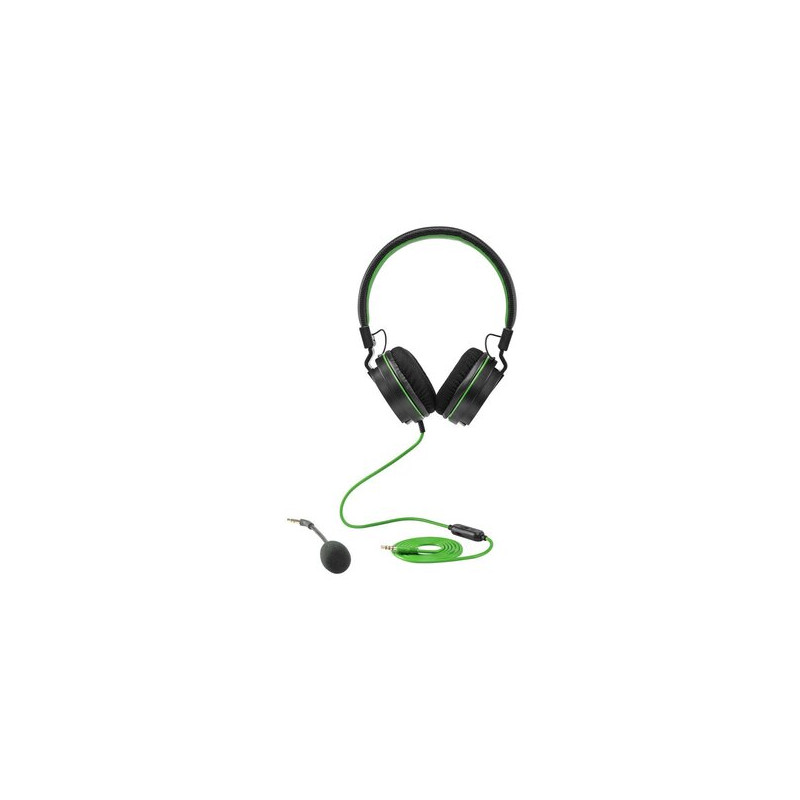 Snakebyte HeadSet X Cuffia 3.5 mm Nero, Verde