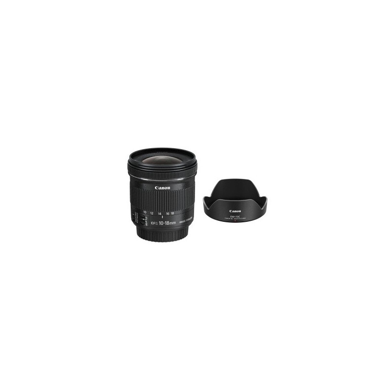 Canon EF-S 10-18mm f/4.5-5.6 IS STM + Paraluce Canon EW-73C