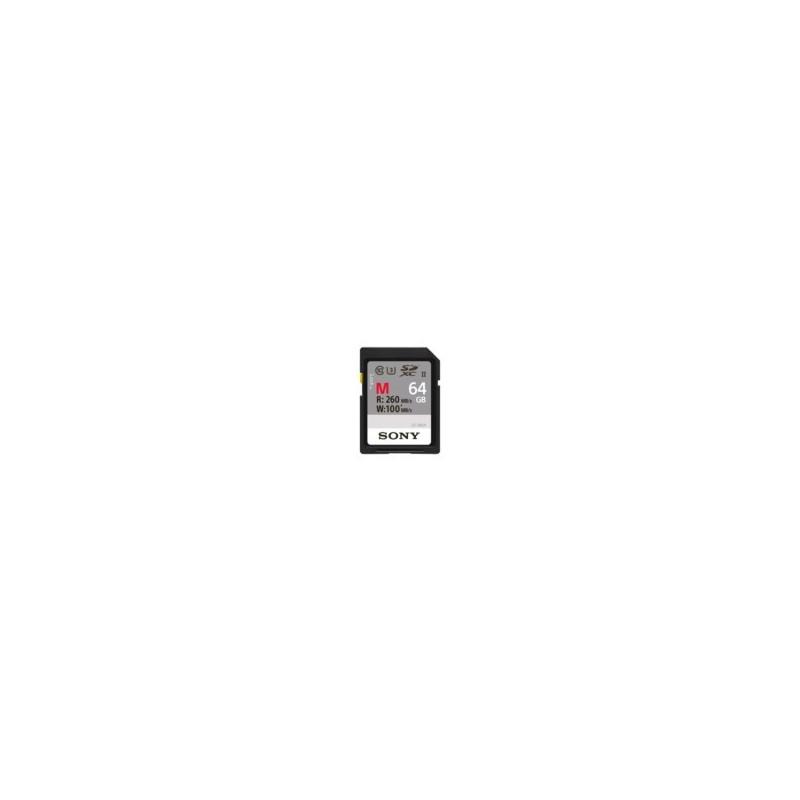 Sony 64GB SDXC UHS-II U3 classe10 4k R260MB/S W 100MB/S
