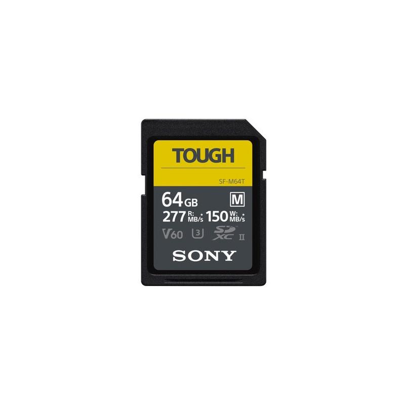 Sony Tough SDXC 64GB M UHS-II U3 277MBs / 150MBs 4K
