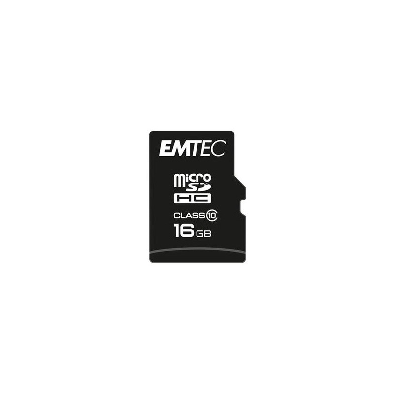 EMTEC 16GB MICRO SDHC Classe 10 CLASSIC 20MB/12MB CON ADATTATORE